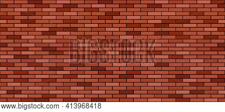 Brick Wall Background. Red And Brown Brick Stones Texture, Building Or House Constructionl. Seamless