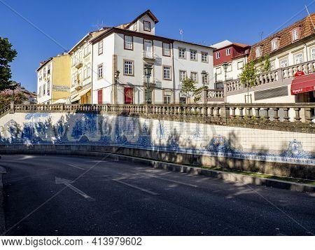 Azulejo Mosaics At Praca Republica At Viseu, Portugal