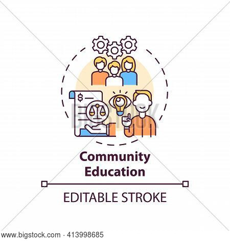 Community Education Concept Icon. Legal Services Categories. Community Education In Regard To Respon