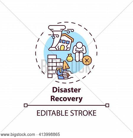 Disaster Recovery Concept Icon. Legal Services Types. Process Of Fixing Things After Natural Disaste