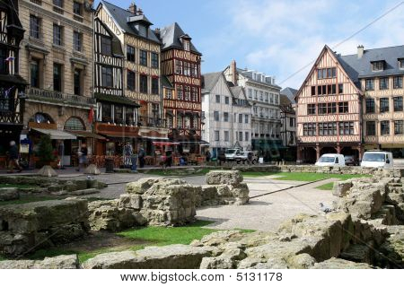 Joan's D'arc Square In Rouen, Normandy, France.