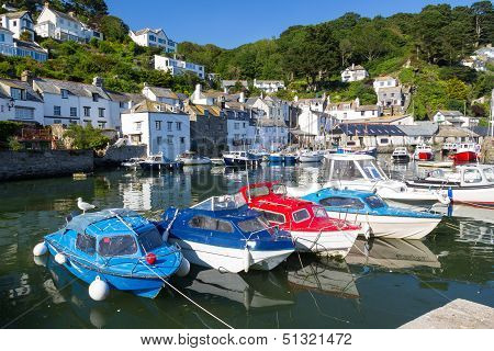 Polperro Harbour Cornwall England