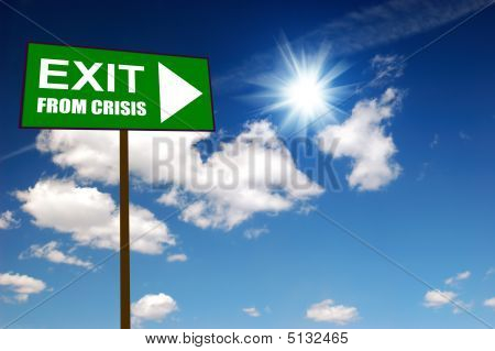 Sign Exit From Crisis