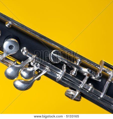 Oboe Isolated On Yellow