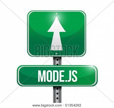 Model Js Road Sign Illustration