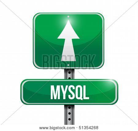 Mysql Road Sign Illustration