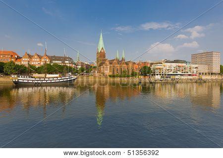 Cityscape Of Summer Bremen