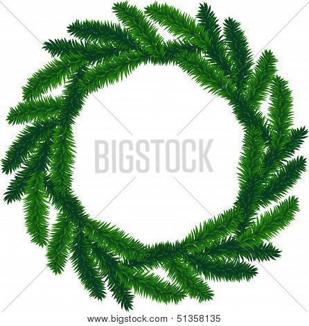 traditional green christmas wreath