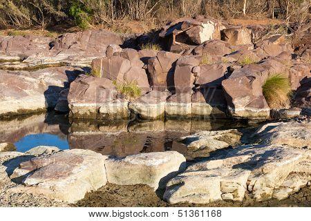 Waterhole And Rock Pool. Flinders Ranges. South Australia