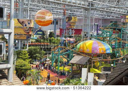Nickelodeon Universe At The Mall Of America In Bloomington, Mn On July 06, 2013