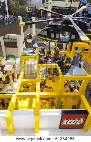 A View Down Into The Lego Store At Mall Of America In Bloomington, Mn On July 06, 2013