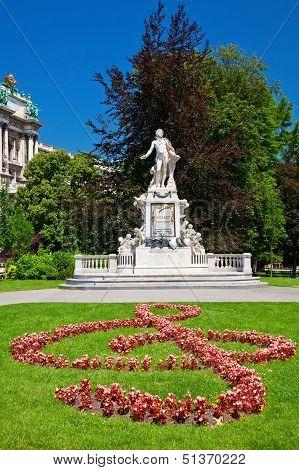 Mozart's Statue in Vienna