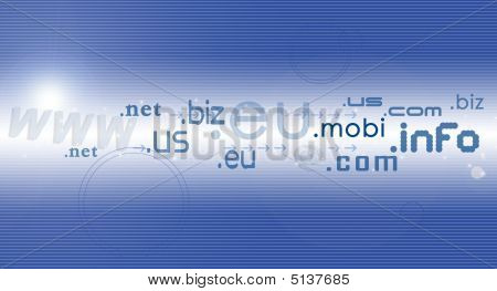 a hi-tech blue colored background of internet concepts. poster