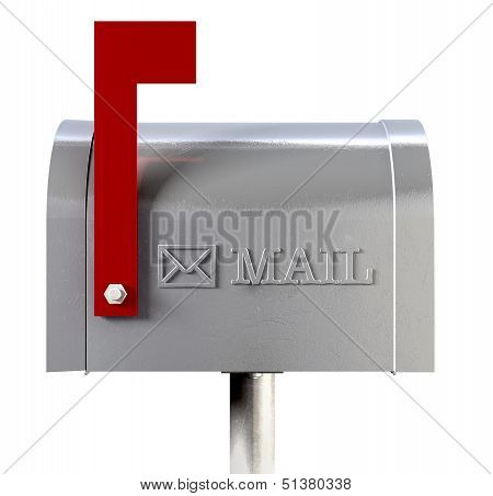 Old School Retro Metal Mailbox Side View