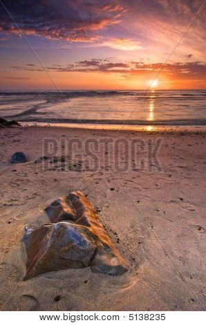 Sunset On Atlantic Beach
