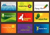 Set of various business cards. You can edit the cards by adding your name and company name. poster