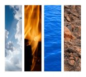 The Four Elements - Air Fire Water Earth poster