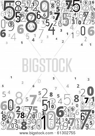 Vector background from numbers