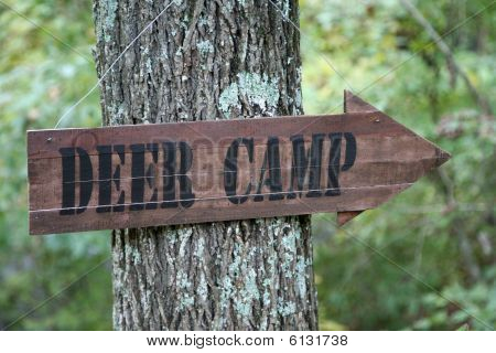 Deer Camp Sign