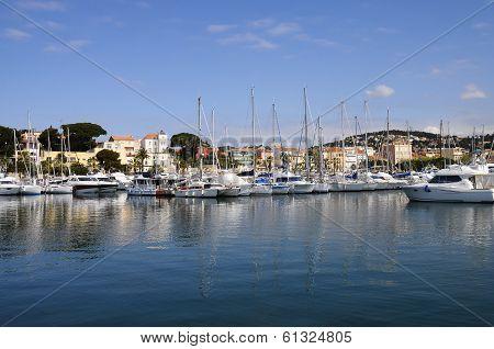 Marina And Village Of Bandol In France