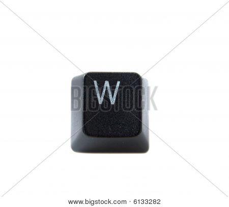 Keyboard Letter W