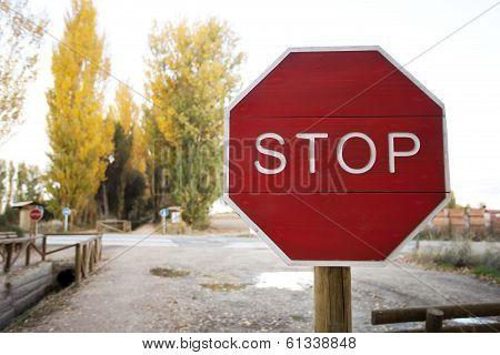 Stop Road Signa