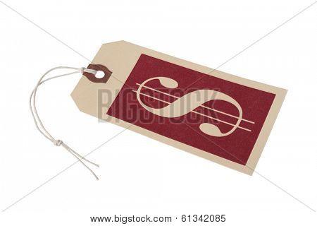 tag with dollar symbol