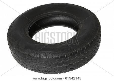tire on white