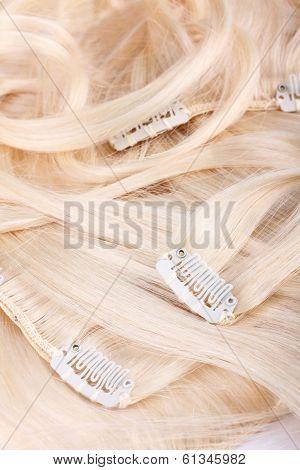 Hair Blond Extensions Set