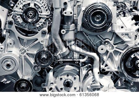 Gas Engine Closeup