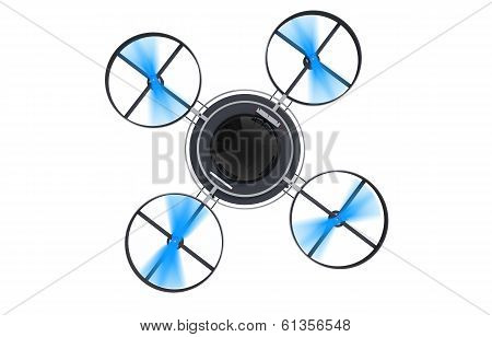 Running Drone From Top