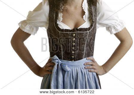 Bayerische Mädchen tragen Oktoberfest Dirndl Tuch