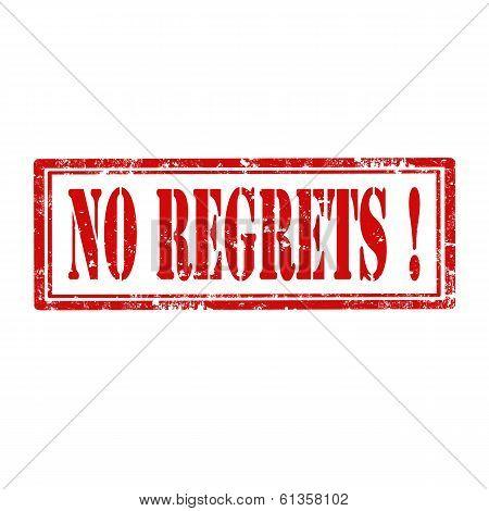 No Regrets!-stamp