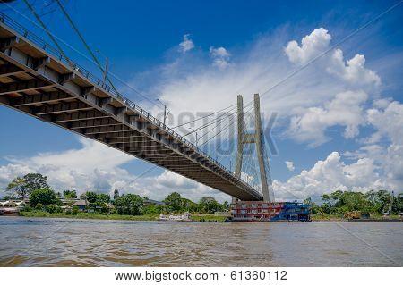 Bridge in Coca, Napo River in Ecuador's amazon basin