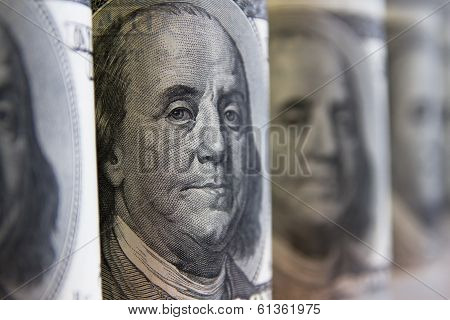 Collage, Banknotes Of The American Dollars
