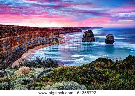 The Twelve Apostles, Great Ocean Road, Victoria - HDR image