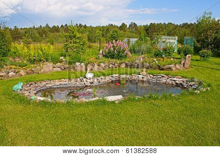 Pond In The Garden