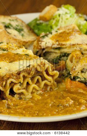 Lasagna And Caesar Salad
