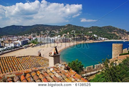 Cityscape View Of Tossa De Mar, Costa Brava, Spain.