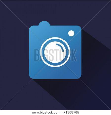 Instagram vector icon logo isolated on dark background