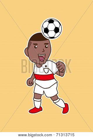 cartoon soccer player