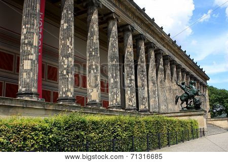 poster of The Altes Museum (Old Museum) on Museum Island in Berlin, Germany