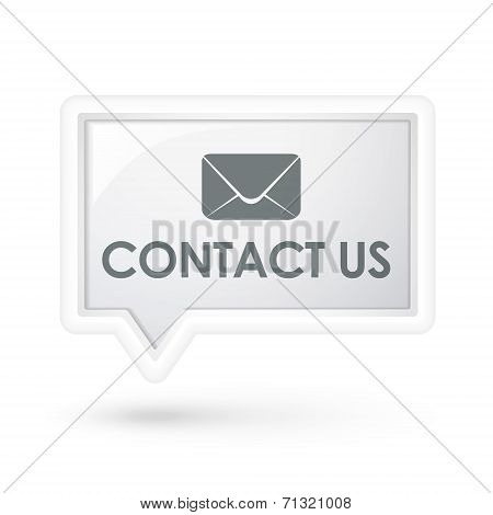Contact Us Words With Mail Icon On A Speech Bubble