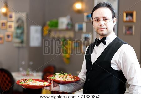 Waiter portrait at the restaurant