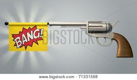 Pistol Bang Flag
