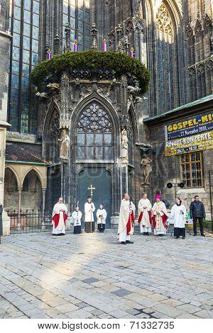 Bishop Franz Scharl Is Praying For The Unborn Child