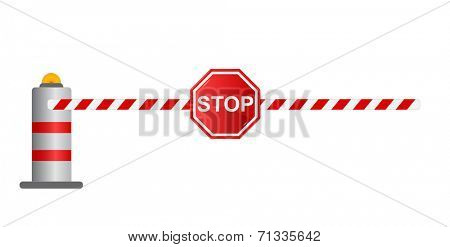 Stop road barrier, vector