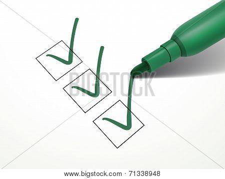 Close-up Look At Green Pen