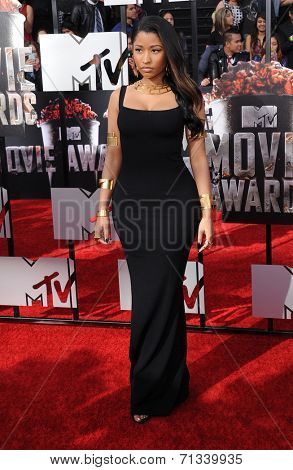 LOS ANGELES - APR 13:  Nicki Minaj arrives to the 2014 MTV Movie Awards  on April 13, 2014 in Los Angeles, CA.