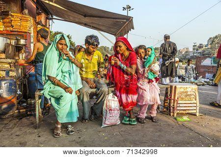 Women Relax At A Tea Shop